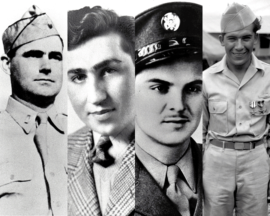 Composite of 4 Medal of Honor recipients.