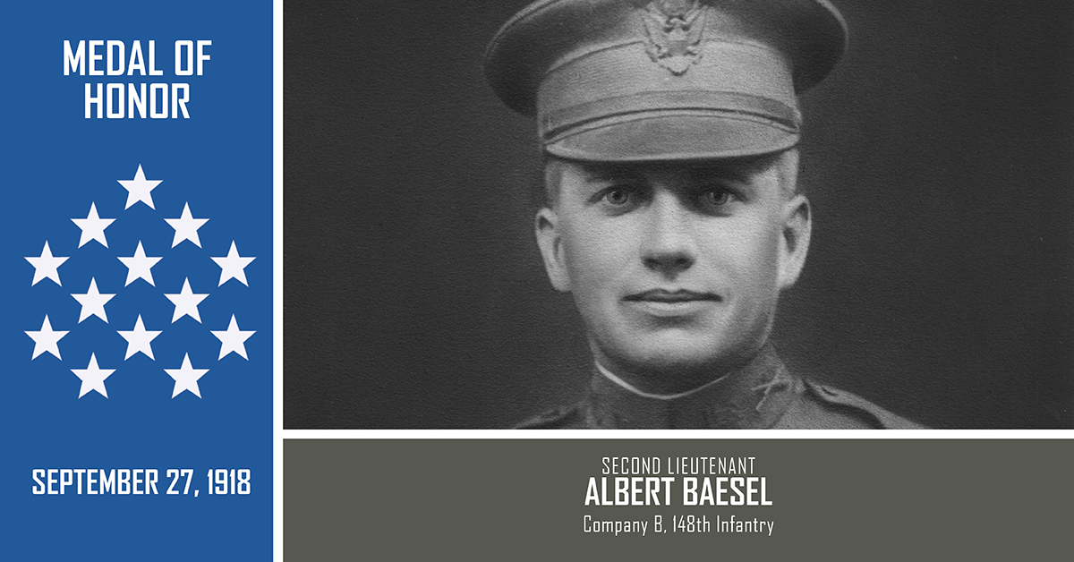 Portrait of 2nd Lt. Albert E. Baesel.