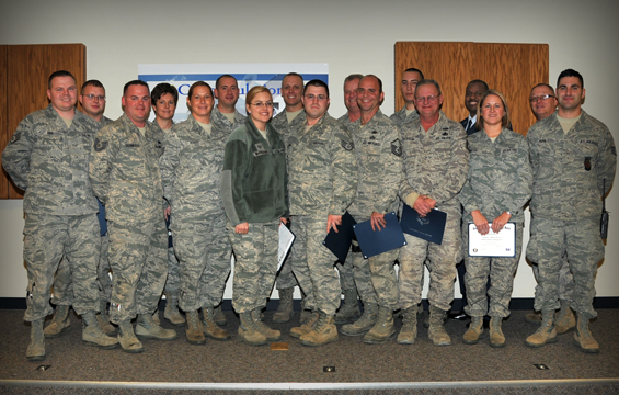 Ohio Air National Guard members from the 200th RED HORSE Squadron at Camp Perry Joint Training Center, Ohio, and the 179 th Airlift Wing in Mansfield, Ohio