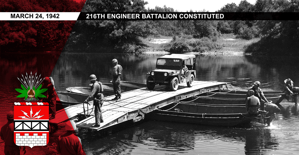 1973 - the 134th Engineer Group makes it away across the Black River on a pontoon raft.