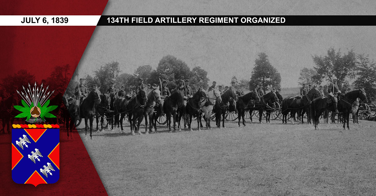 1st Regiment Light Artillery is seen fully mounted, circa 1890