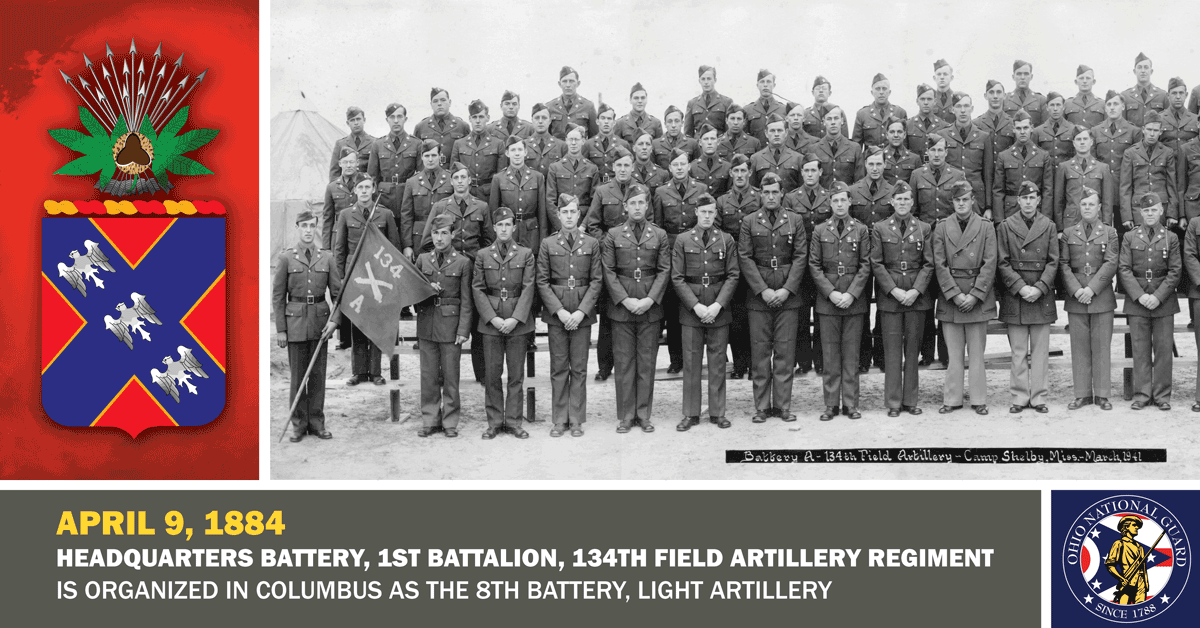 2005: 134th Field Artillery sit for a unit photo at Camp Grayling