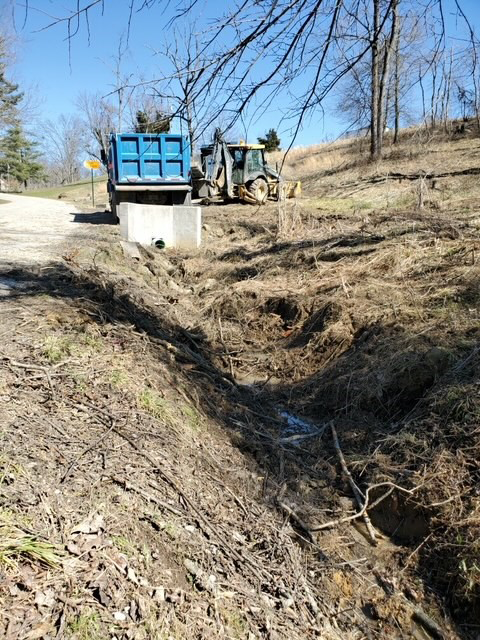 Ditch after cleanup.