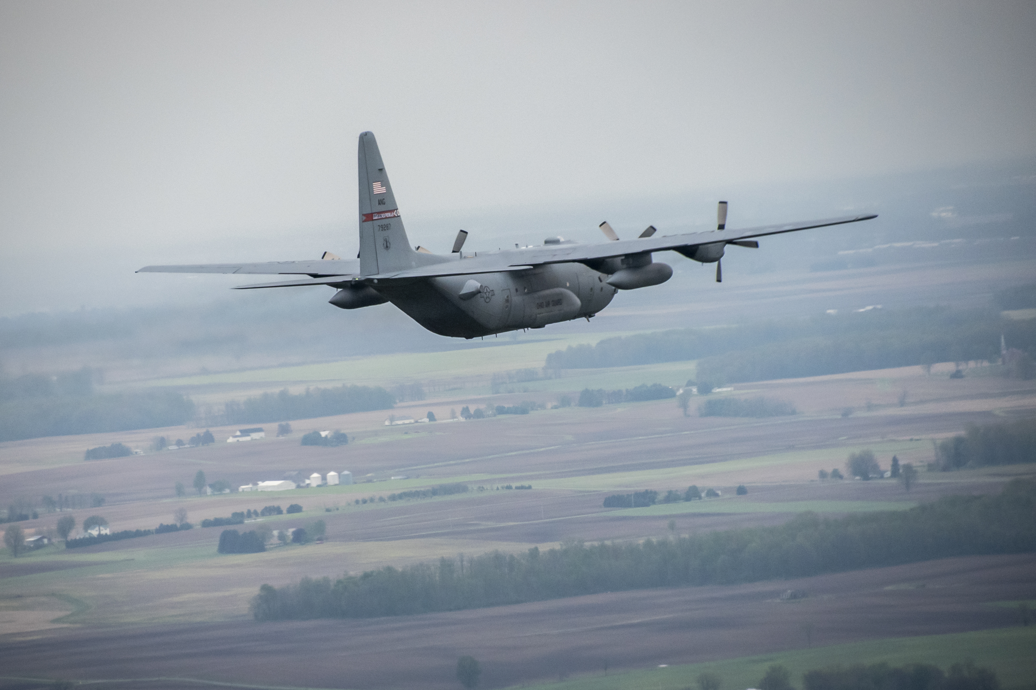 C-130H Stratotanker in flight