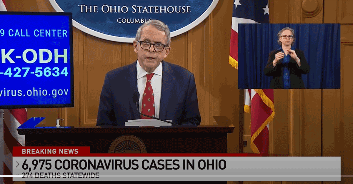 Gov. DeWine at podium